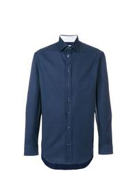 Camisa de Vestir Azul Marino de Armani Collezioni