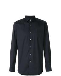 Camisa de Vestir Azul Marino de Bagutta