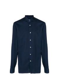 Camisa de Vestir Azul Marino de Borriello
