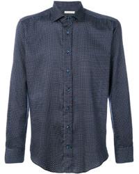 Camisa de Vestir Azul Marino de Etro