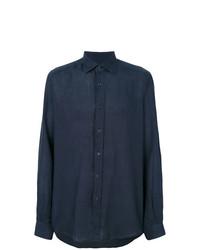 Camisa de vestir azul marino de Fashion Clinic Timeless
