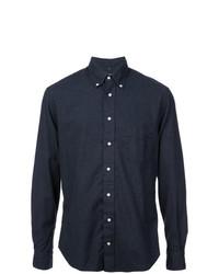 Camisa de Vestir Azul Marino de Gitman Vintage