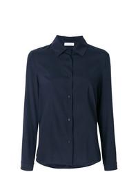 Camisa de vestir azul marino de Le Tricot Perugia
