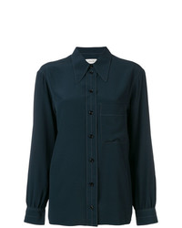 Camisa de vestir azul marino de Lemaire