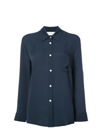 Camisa de vestir azul marino de Mansur Gavriel