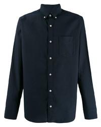 Camisa de vestir azul marino de Nn07