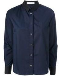 Camisa de vestir azul marino de Sacai