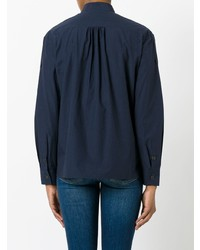 Camisa de vestir azul marino de Tomas Maier