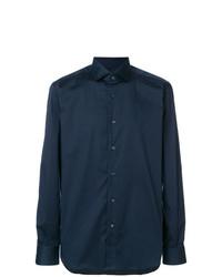 Camisa de Vestir Azul Marino de Xacus