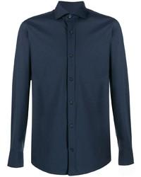 Camisa de vestir azul marino de Z Zegna