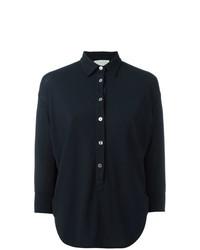 Camisa de vestir azul marino de Zanone