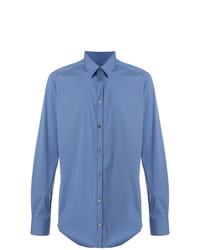 Camisa de Vestir Azul de Bagutta