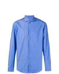 Camisa de Vestir Azul de Emporio Armani