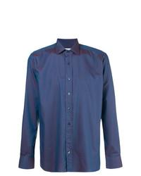 Camisa de Vestir Azul de Etro