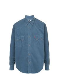 Camisa de Vestir Azul de H Beauty&Youth