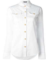Camisa de vestir blanca de Balmain