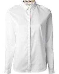 Camisa de Vestir Blanca de Burberry