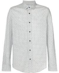 Camisa de Vestir Blanca de Dirk Bikkembergs