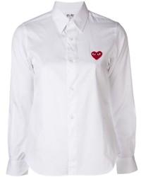 Camisa de Vestir Bordada Blanca de Comme des Garcons