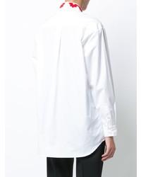 Camisa de vestir bordada blanca de Simone Rocha