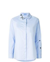 Camisa de vestir bordada celeste de Macgraw