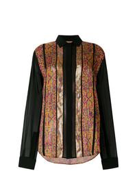 Camisa de vestir bordada en multicolor de Saint Laurent