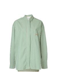 Camisa de vestir bordada en verde menta de Walk Of Shame