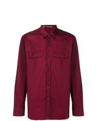 Camisa de vestir burdeos de Alessandro Gherardi
