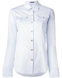 Camisa de vestir celeste de Balmain