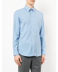 Camisa de vestir celeste de Gieves & Hawkes