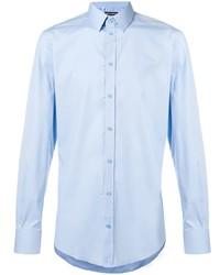 Camisa de vestir celeste de Dolce & Gabbana