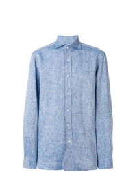 Camisa de vestir celeste de Doppiaa