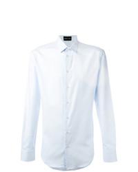 Camisa de vestir celeste de Emporio Armani