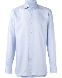 Camisa de Vestir Celeste de Ermenegildo Zegna
