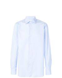 Camisa de vestir celeste de Finamore 1925 Napoli