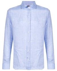 Camisa de vestir celeste de Mp Massimo Piombo
