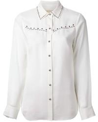 Camisa de vestir con adornos blanca de MICHAEL Michael Kors