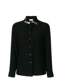 Camisa de vestir con adornos negra de RED Valentino