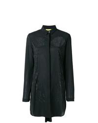 Camisa de vestir con adornos negra de Versace Jeans