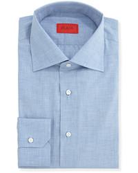 Camisa de vestir de cambray celeste