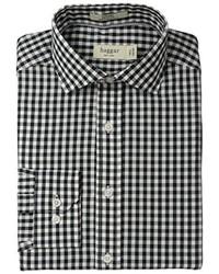 Camisa de vestir de cuadro vichy burdeos de Haggar