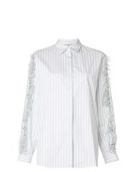 Camisa de vestir de cuadro vichy celeste