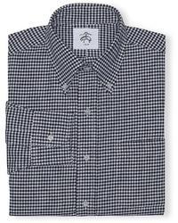 Camisa de vestir de cuadro vichy en negro y blanco