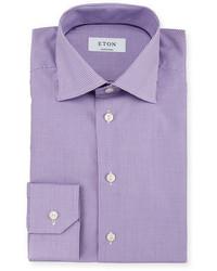 Camisa de vestir de cuadro vichy violeta claro