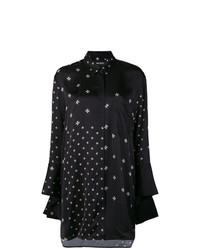 Camisa de vestir de estrellas en negro y blanco de Neil Barrett
