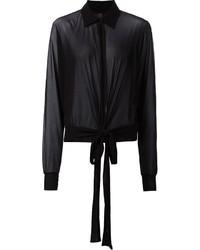 Camisa de vestir de gasa negra de Jean Paul Gaultier