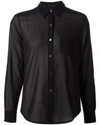 Camisa de vestir de gasa negra de Theory