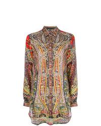 Camisa de vestir de paisley en multicolor de Etro