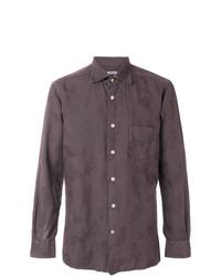 Camisa de vestir de paisley marrón de Kiton