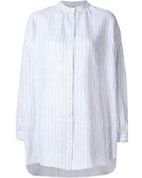 Camisa de vestir de rayas verticales blanca de Dusan